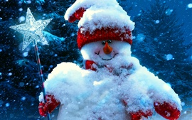 Preview wallpaper Christmas, new year, snowman, winter
