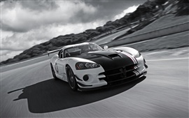 Preview wallpaper Dodge Viper SRT-10 supercar in speed