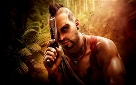 Aperçu fond d'écran Far Cry 3, pistolet, jungle