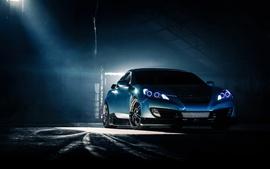Hyundai Genesis Coupe, синий автомобиль