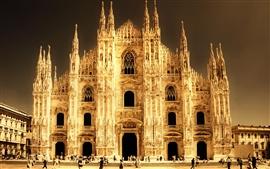 미리보기 배경 화면 이탈리아, 밀라노, 성당