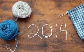 Preview wallpaper Knitted wire New Year 2014