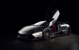 Preview wallpaper Lamborghini Murcielago supercar, black background