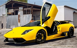 Preview wallpaper Lamborghini Murcielago yellow supercar