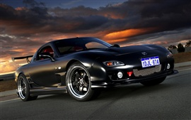 Preview wallpaper Mazda RX-7 black car