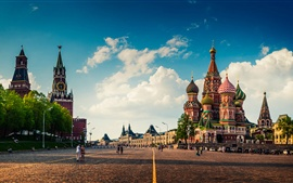 Preview wallpaper Moscow, Red Square, city landscape