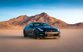 Preview wallpaper Nissan GT-R 2014, Track Edition, black supercar