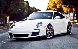 Preview wallpaper Porsche 911 GT3 white supercar