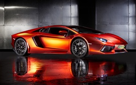 Preview wallpaper Print Tech Lamborghini Aventador orange supercar