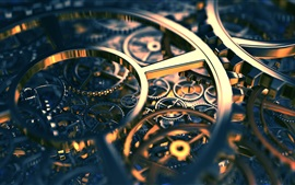 Preview wallpaper 3D mechanism gear axis