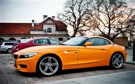 BMW Z4 orange car