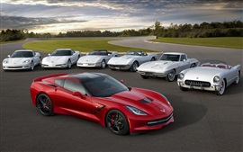 Preview wallpaper Chevrolet Corvette Stingray, red white supercar