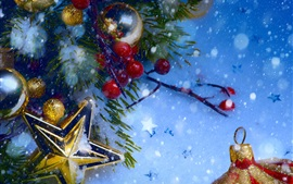 Preview wallpaper Christmas decorations, snow, winter