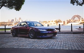 Preview wallpaper Nissan Silvia Spec-R S15 red car side view
