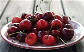 Preview wallpaper One dish food, red cherry, fruit