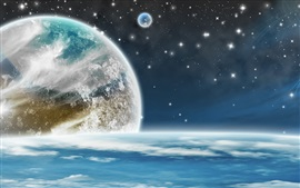 Planets, magic space, stars Wallpapers Pictures Photos Images