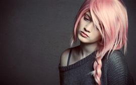Preview wallpaper Pretty pink hair girl