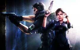 Aperçu fond d'écran Resident Evil: Revelations, garçon et fille