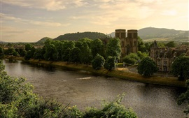 Preview wallpaper Scotland, Great Britain, St Andrews Cathedral, the River Ness, trees