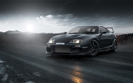 Preview wallpaper Toyota Supra black supercar