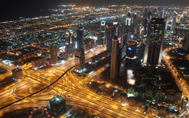 Preview wallpaper United Arab Emirates, Dubai, city, metropolis, skyscrapers, lights