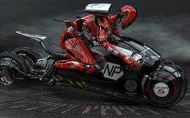 Preview wallpaper 3D design, bike robot racer