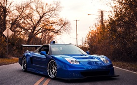 Preview wallpaper Acura blue supercar at sunset