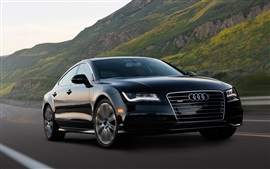 Preview wallpaper Audi A7 black car in road