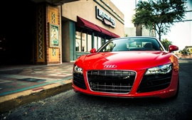 Audi R8 V10 Спайдер красный суперкар