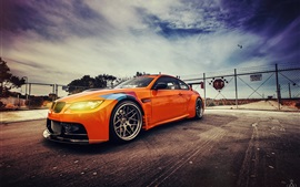 BMW GT2 E92 M3 orange car