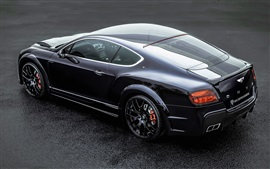 Preview wallpaper Bentley Continental GT ONYX black car back view