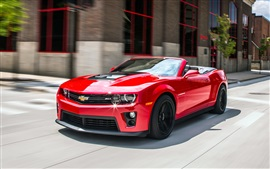 Preview wallpaper Chevrolet Camaro Convertible, red car, road