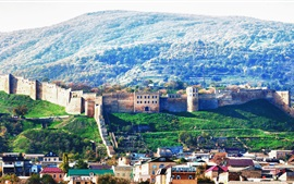 Preview wallpaper Dagestan, city, buildings, house, mountains