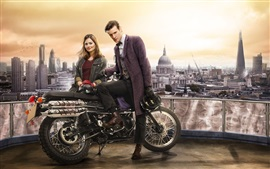 Preview wallpaper Doctor Who, Matt Smith, Jenna-Louise Coleman