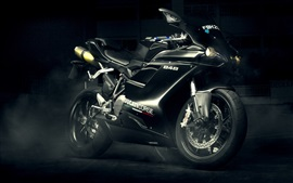Preview wallpaper Ducati 848 Evo black motorcycle