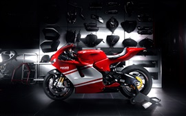 Preview wallpaper Ducati red sportbike, motorcycle
