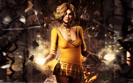 Preview wallpaper Fantasy yellow clothes girl, magic