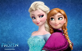 Preview wallpaper Frozen, Disney movie, Anna, Elsa, sisters