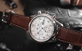 IWC watch, white, brown