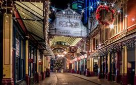 Londres, Inglaterra, ciudad, noche, noche, calle, luces