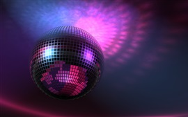 Preview wallpaper Music lights, Disco Ball, purple, 3D pictures