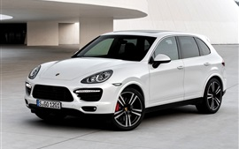 Porsche Cayenne Turbo S 2013 white car