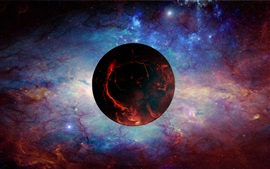 Preview wallpaper Red planet, universe, space, nebula