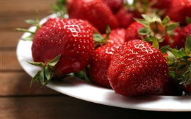 Preview wallpaper Sweet fruit, berry, strawberry, plates