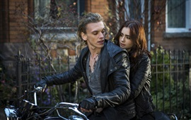 Preview wallpaper The Mortal Instruments: City of Bones, Lily Collins, Jamie Campbell Bower