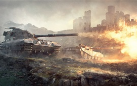 Preview wallpaper World of Tanks British tanks