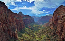 Preview wallpaper Zion National Park, Utah, Zion Canyon, blue sky