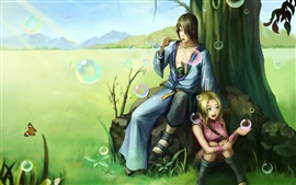 Art pictures, Naruto, girl with boy