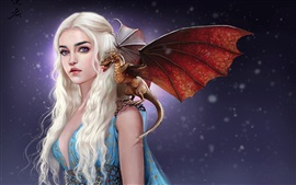Preview wallpaper Art pictures, girl, Game of Thrones