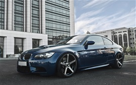 Preview wallpaper BMW E92 M3 Deep Concave blue car